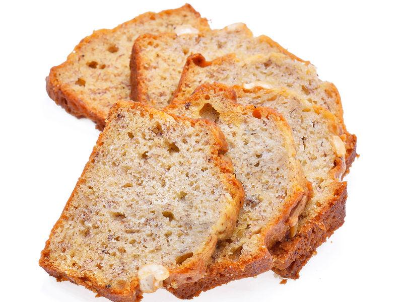 Slices of bread arranged