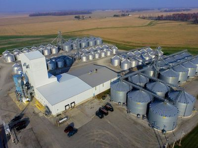 Aerial view of Morral Specialty Grain
