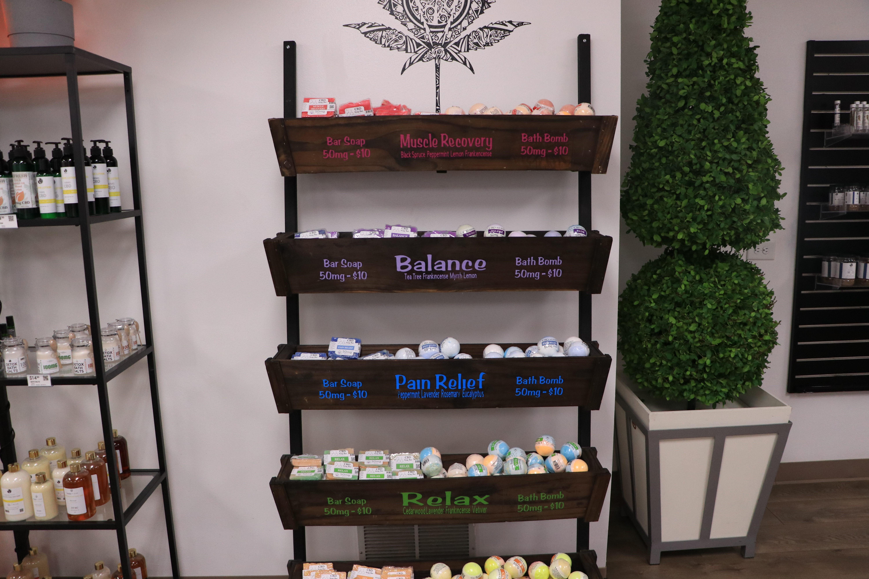 ERTH CBD Products on a shelf