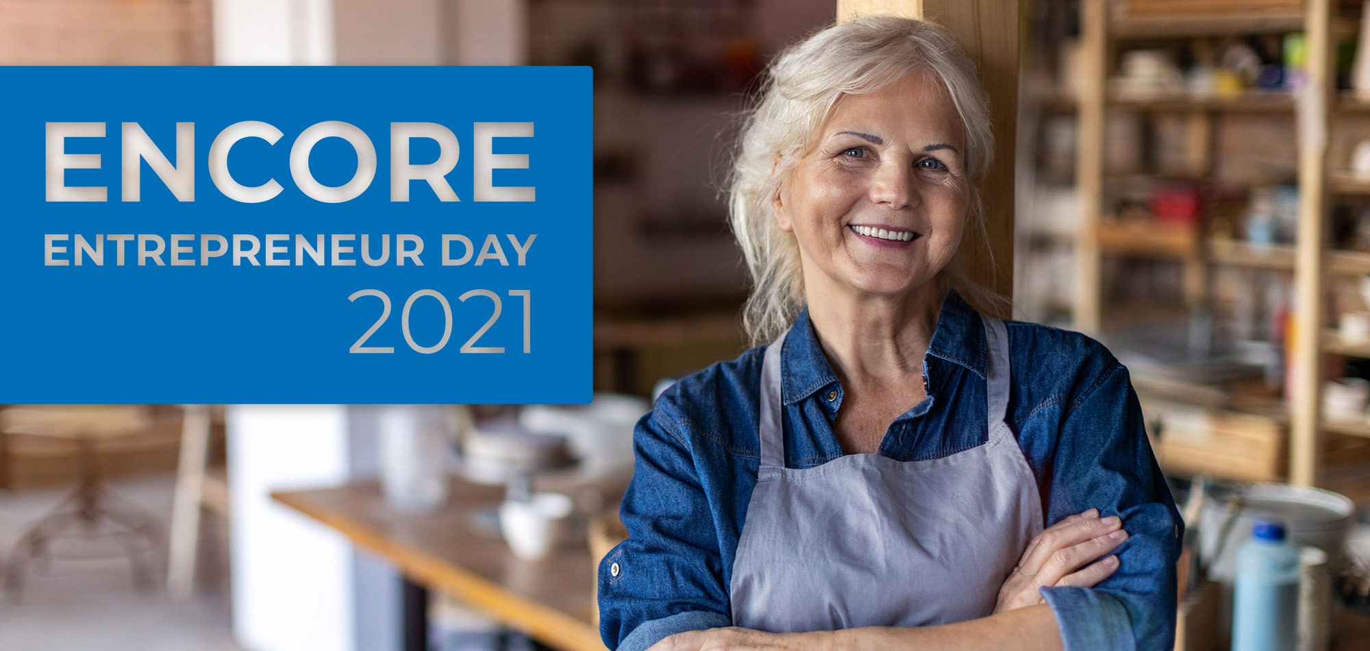 Mature business woman standing in her pottery art studio