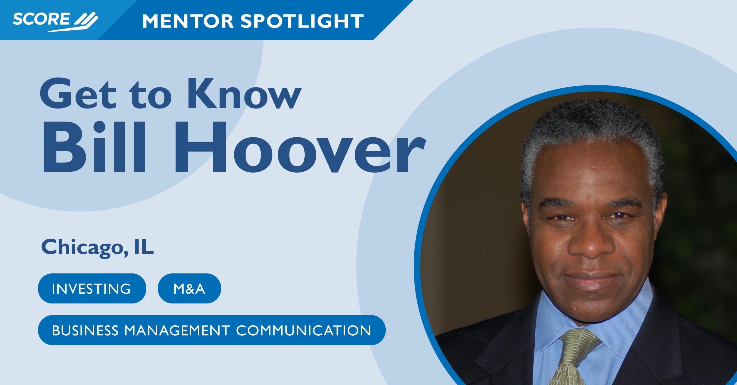 Mentor Spotlight - Bill Hoover
