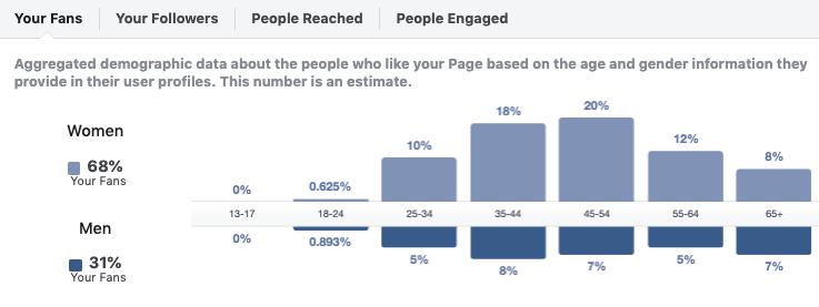 Facebook insights demographics