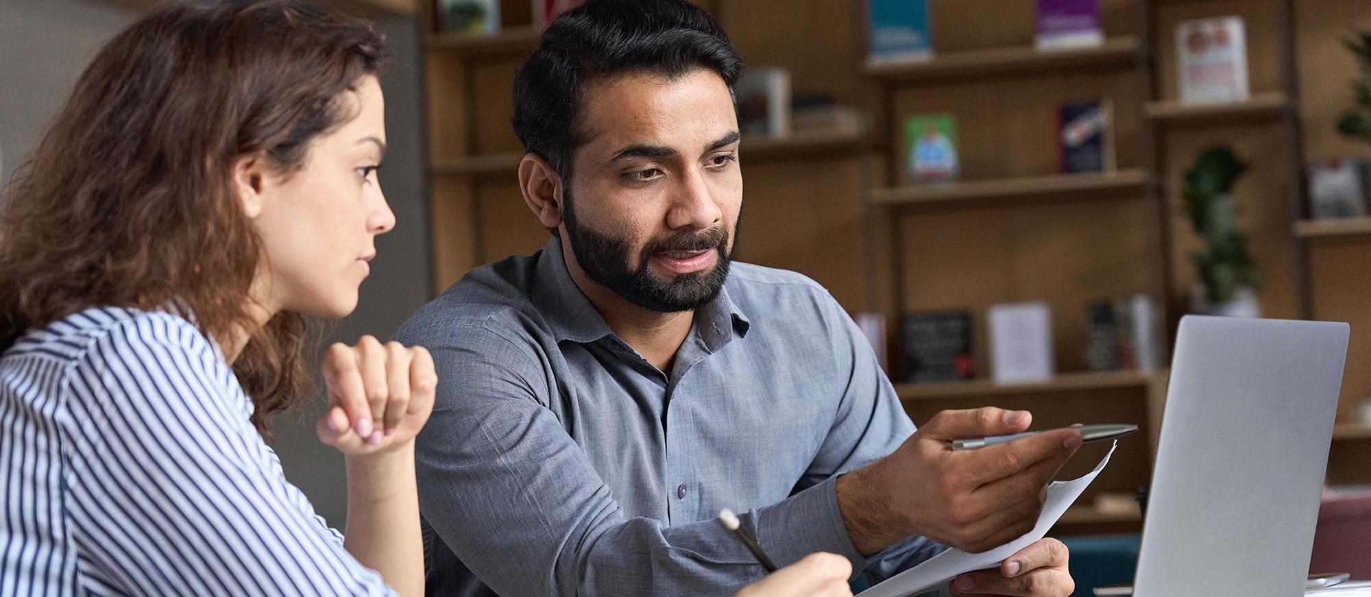 A mentor teaching their SCORE client
