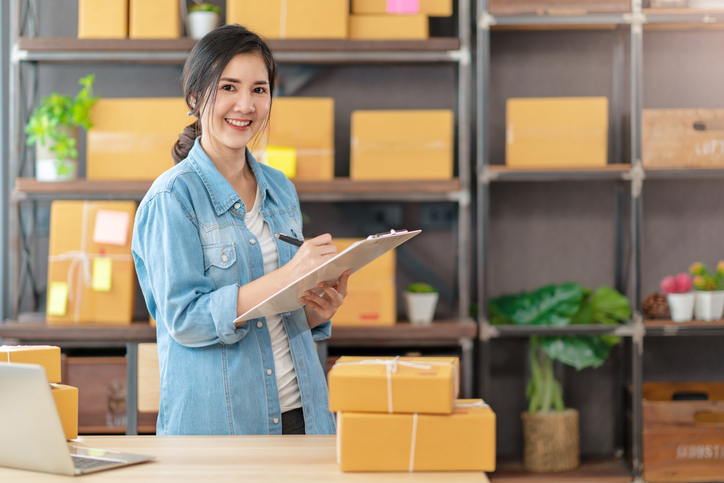Photo of woman conducting business tasks