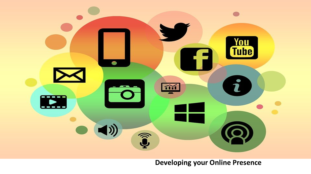 Developing Your Online presence graphic