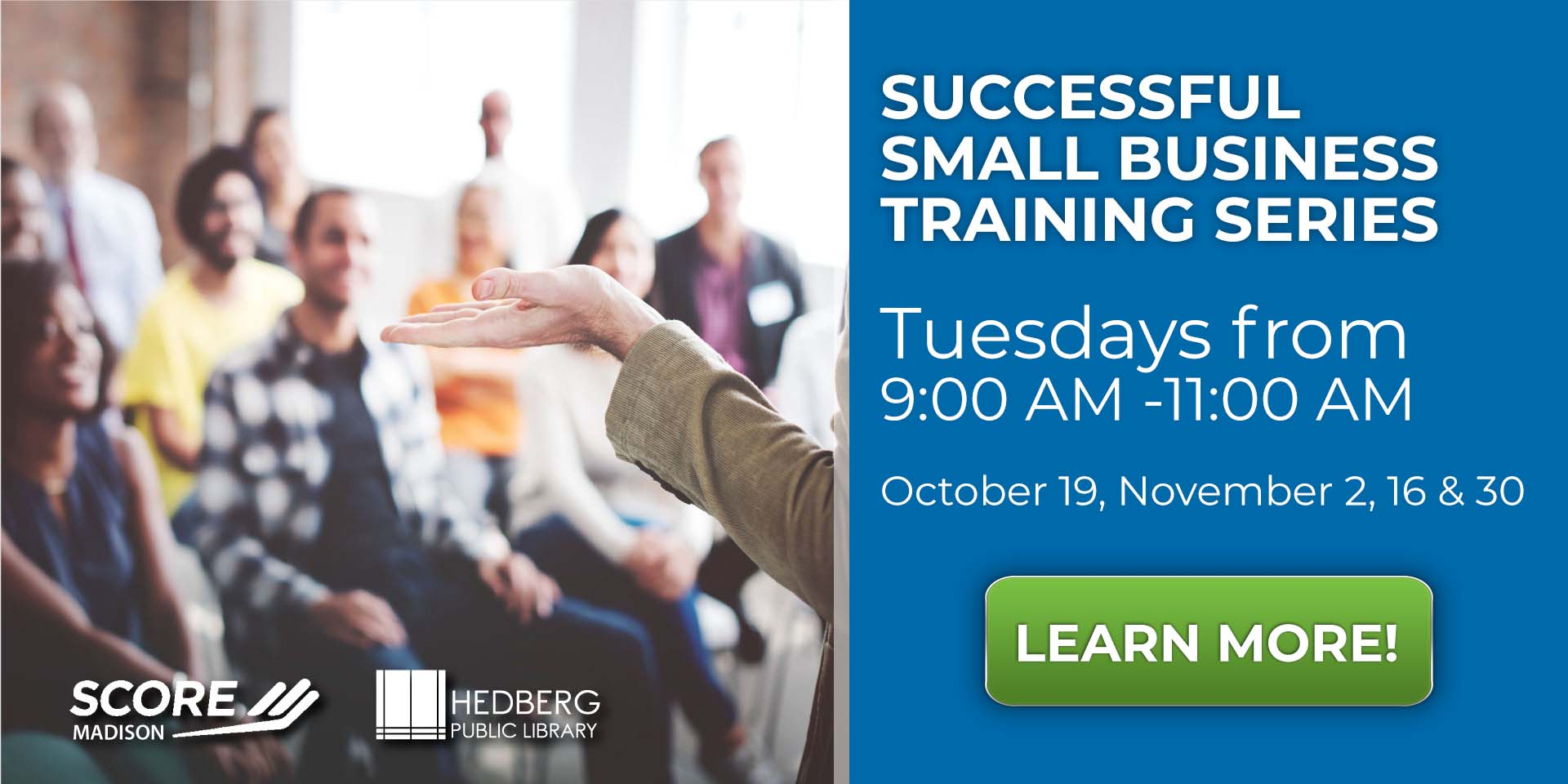 Successful Small Business Training Series banner