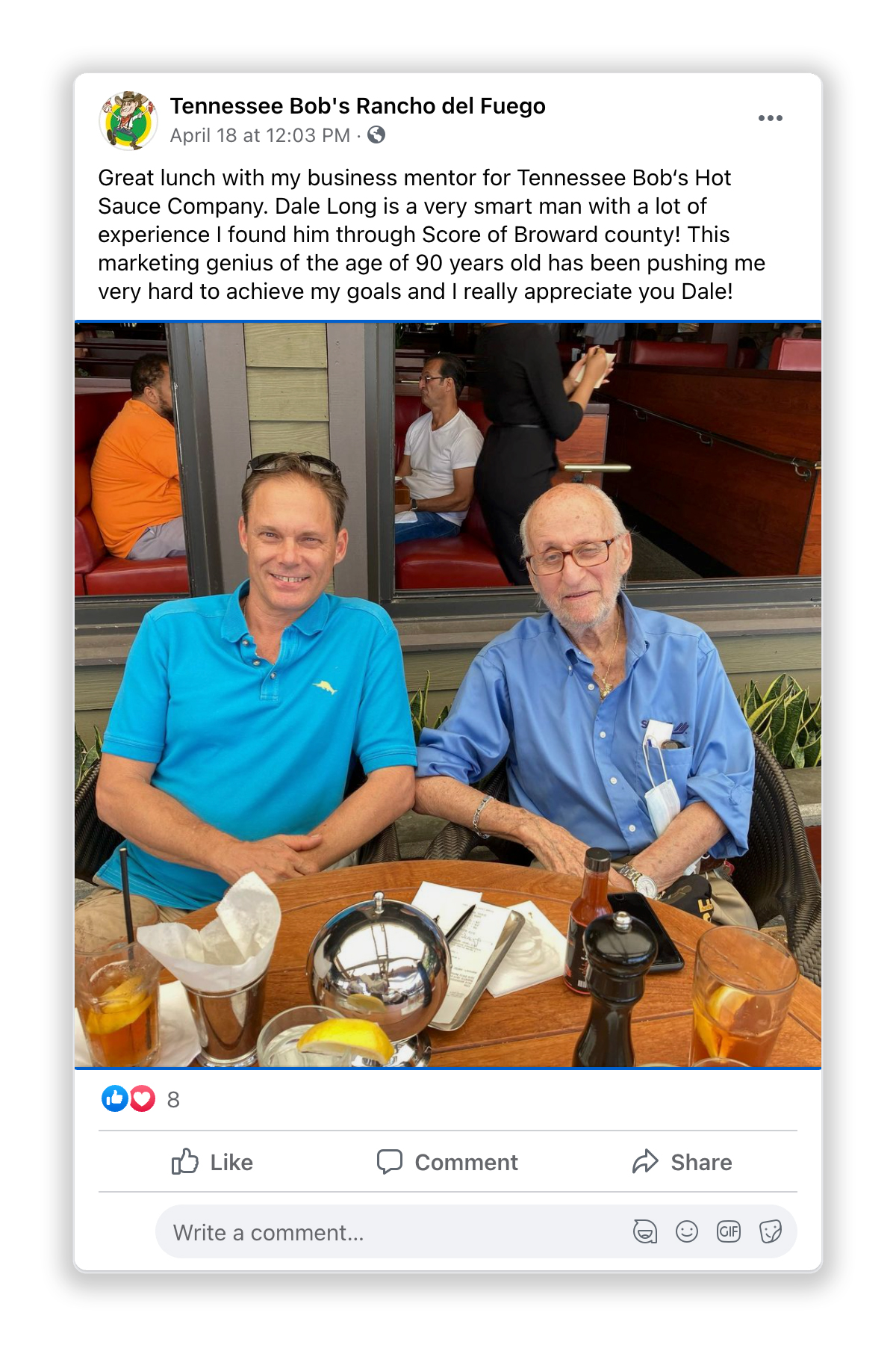 Bob and Dale Facebook Post