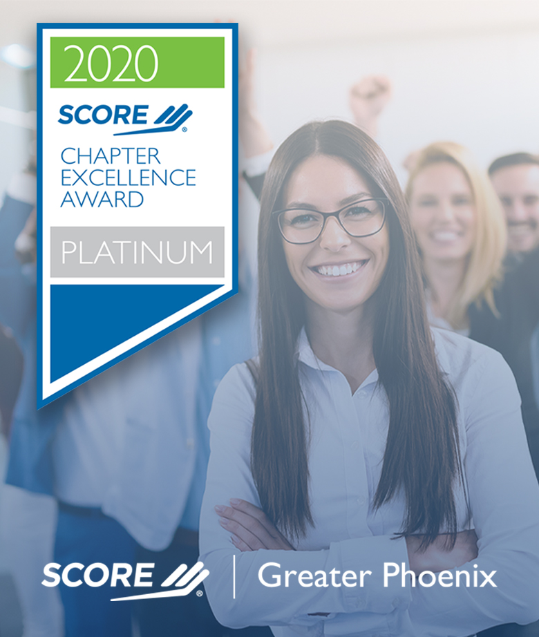 SCORE Greater Phoenix 2020 Platinum Chapter Excellence Award