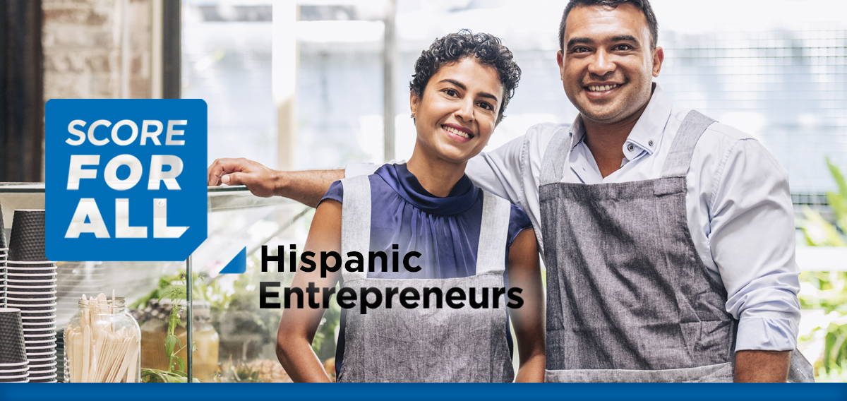 Two Hispanic business owners