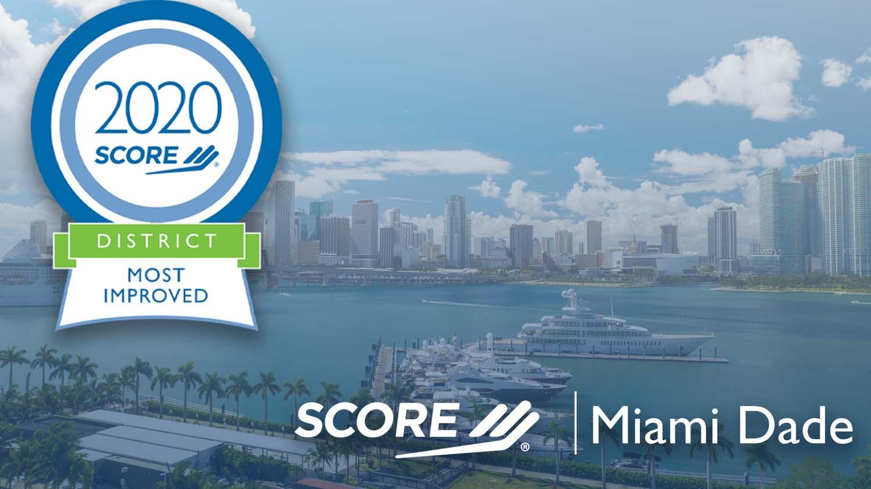 SCORE Miami Dade Region Most Improved 2020