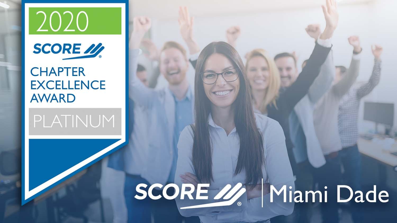 SCORE Miami Dade Platinum Chapter Excellence Award 2020
