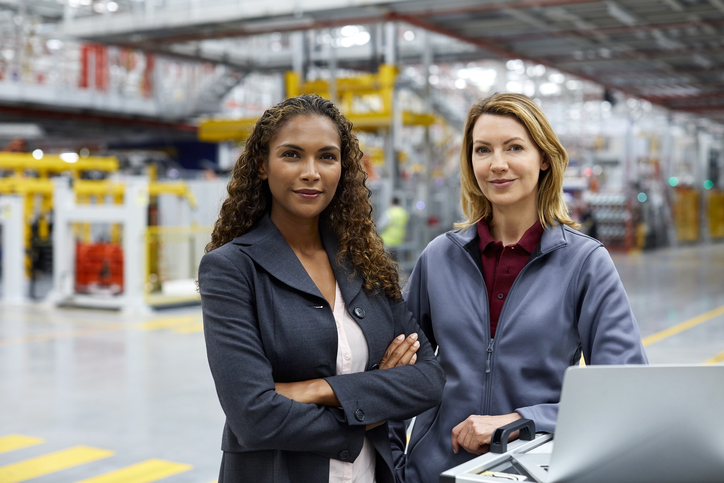 2 women in factory