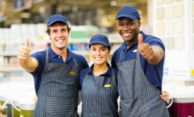 smiling employees
