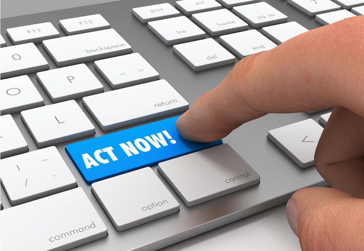 Act Now! button on keyboard