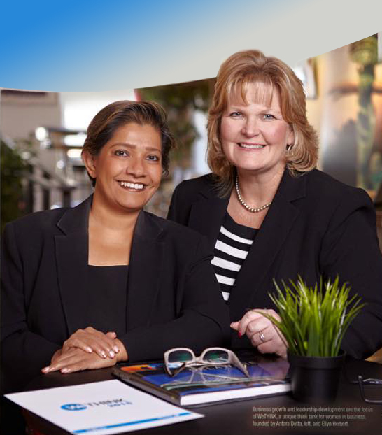Antara Dutta (Delaware SCORE Past President) and Ellyn Herbert (SBA, Economic Development Specialist)