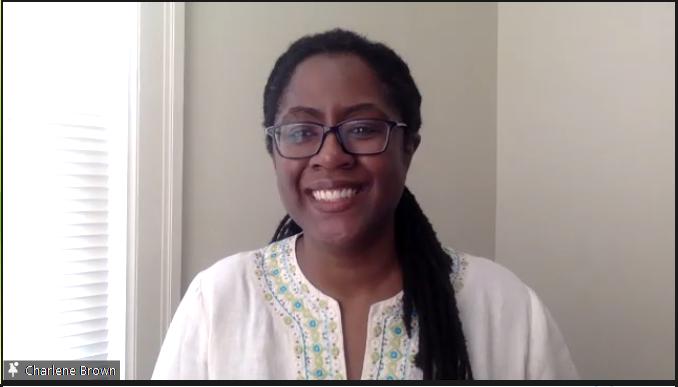 Dr. Charlene Brown presenting at the 2021 Black Entrepreneurs Pitch event