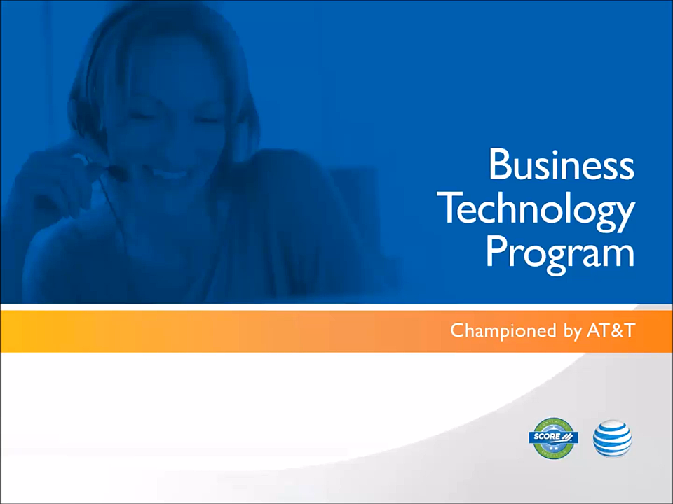 Business Technology Program PDF with speaker notes