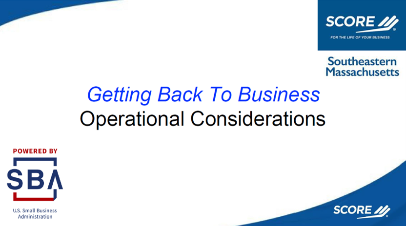 Reopening Your Business - Operational Concerns