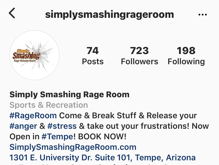 Simply Smashing Rage Room on Instagram