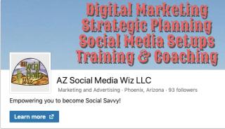 AZ Social Media Wiz LinkedIn Business Page