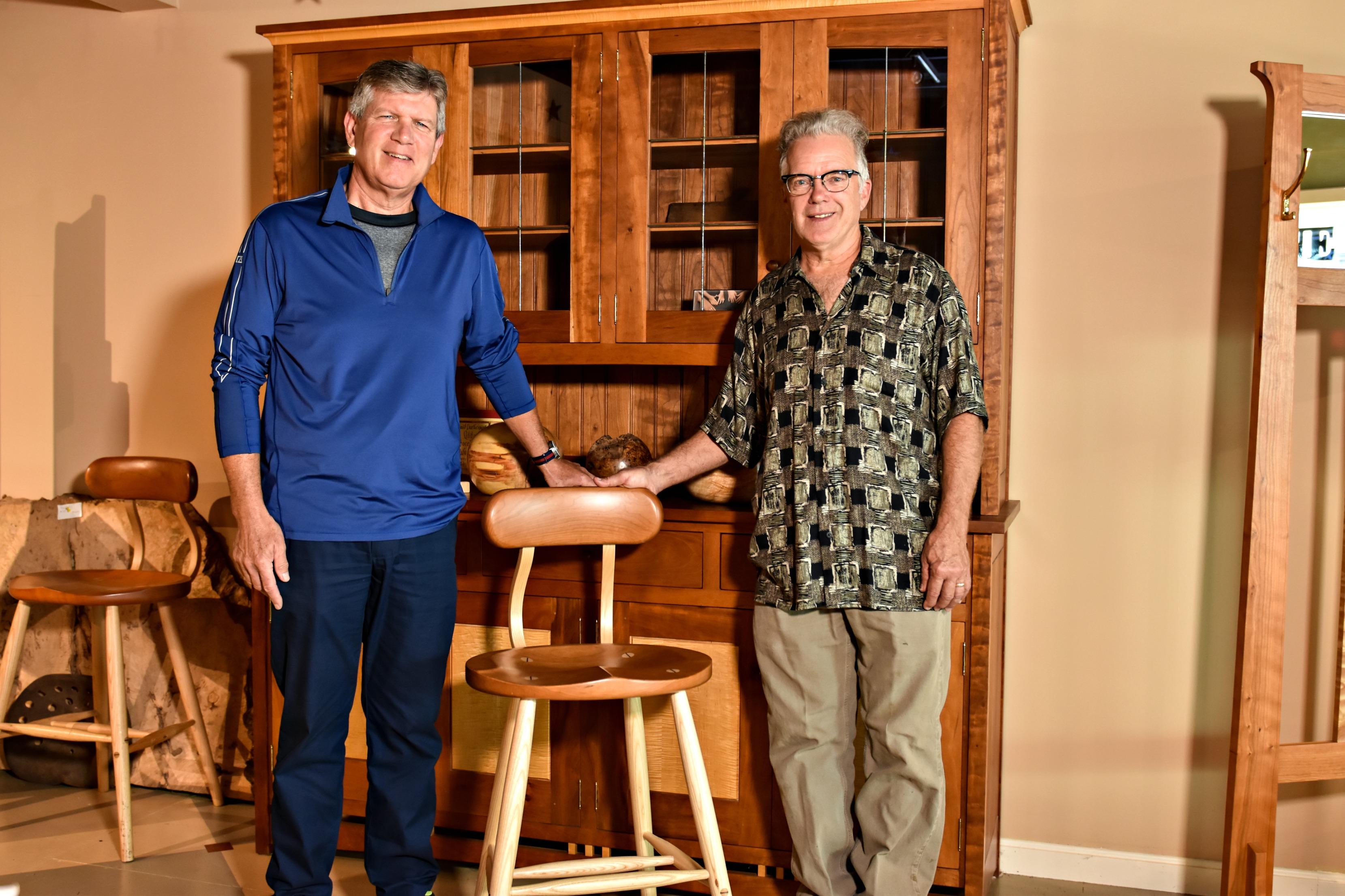 Thomas Morton and Jeff Ebert shaking hands