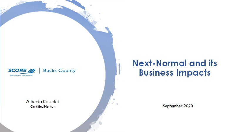 The Next-Normal and its Business Impacts - Slide Deck