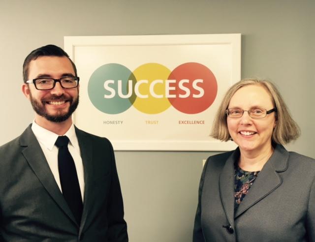 Aaron Hogue, Program Manager, and Karen Scott, HR
