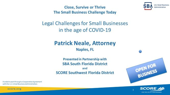 The Small Business Legal Challenges in the Age of COVID-19