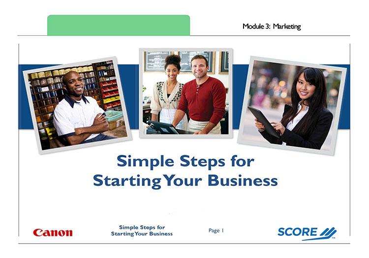 Simple Steps - Module 3 First Slide