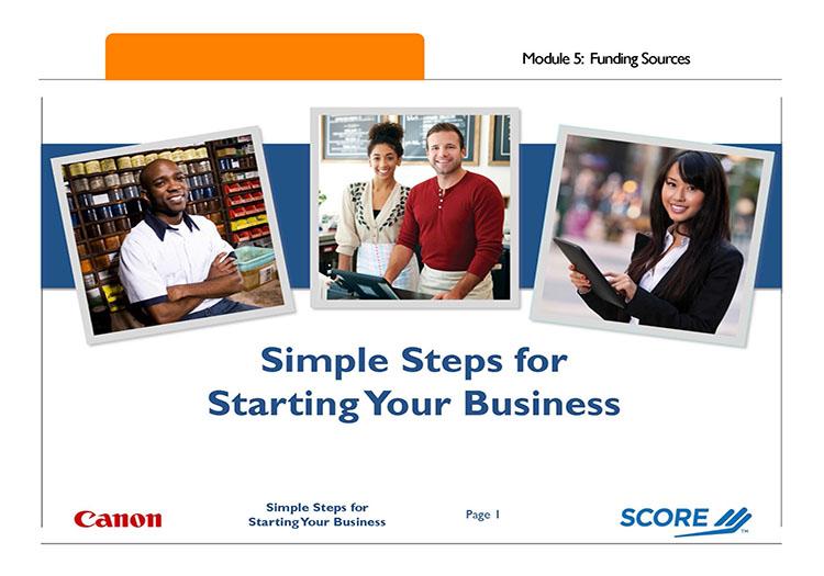 Simple Steps Modele 5 First Slide