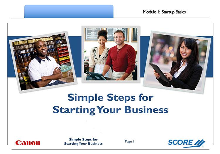 Simple Steps - Module 1 First Slide