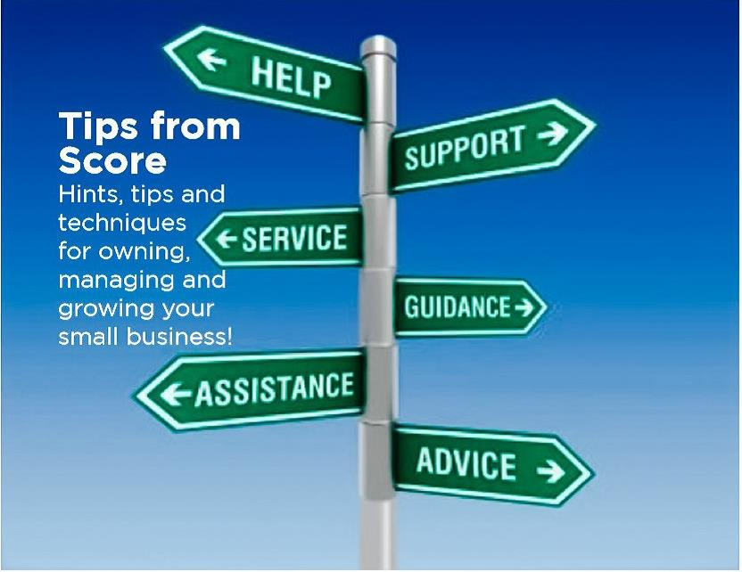 Tips from SCORE - Small Business Advice