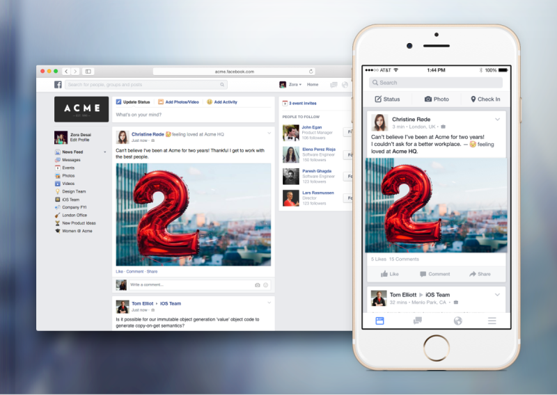 """Facebook To Launch """"Work"""", The Social Solution For Company Communication"""
