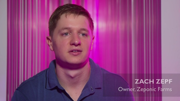 Zach Zepf, owner of Zeponic Farms