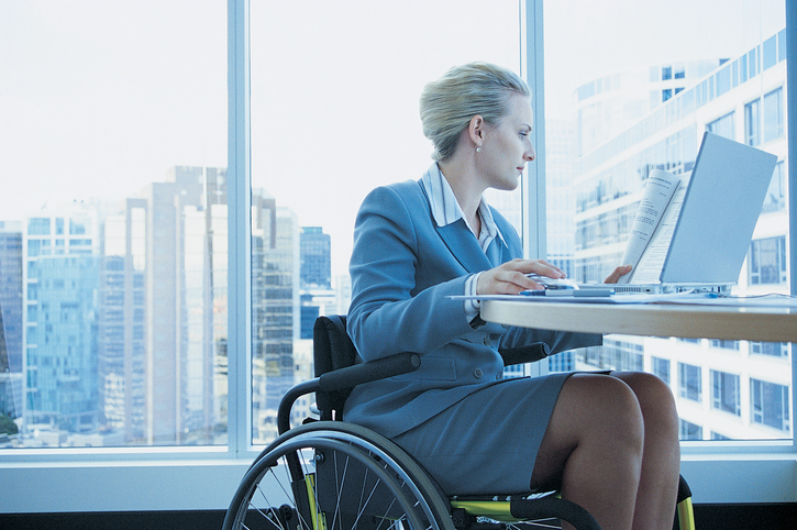 business woman in wheelchair