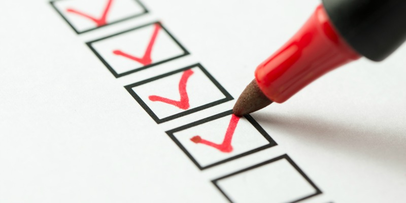 marking off checklist