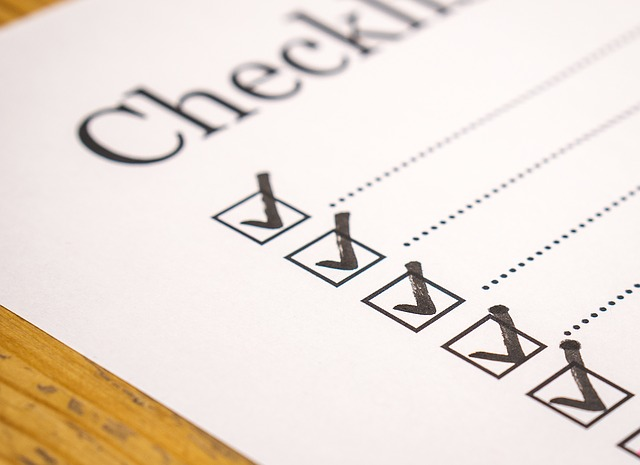 checklist - to do
