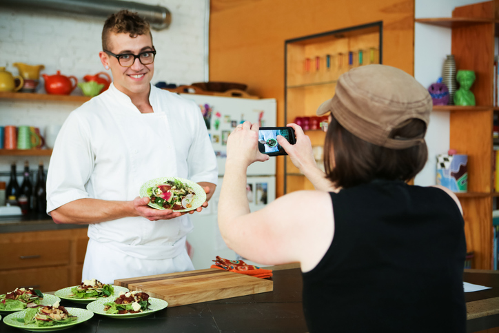 chef being photographed