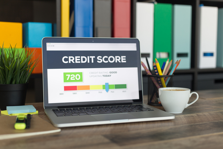 credit score on laptop