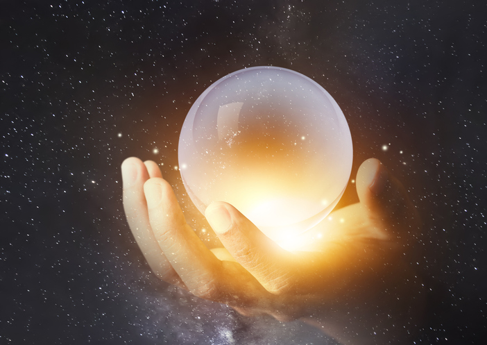 looking into crystal ball