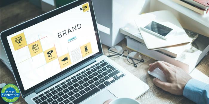 brand on laptop