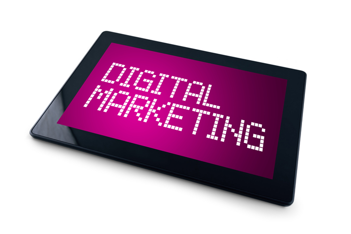 digital marketing on tablet