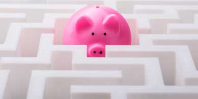 Piggy Bank in the middle of a maze