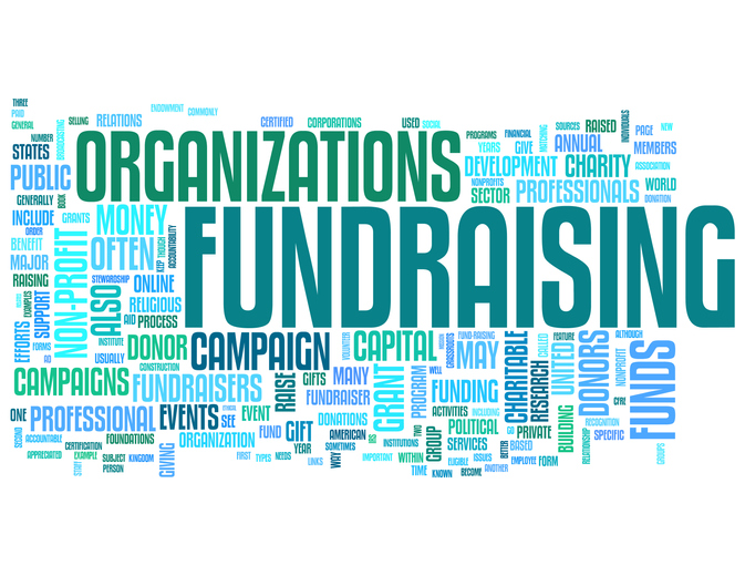 fundraising organizations word bubble