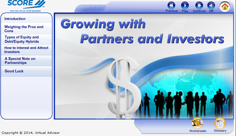 Growing with Partners and Investors