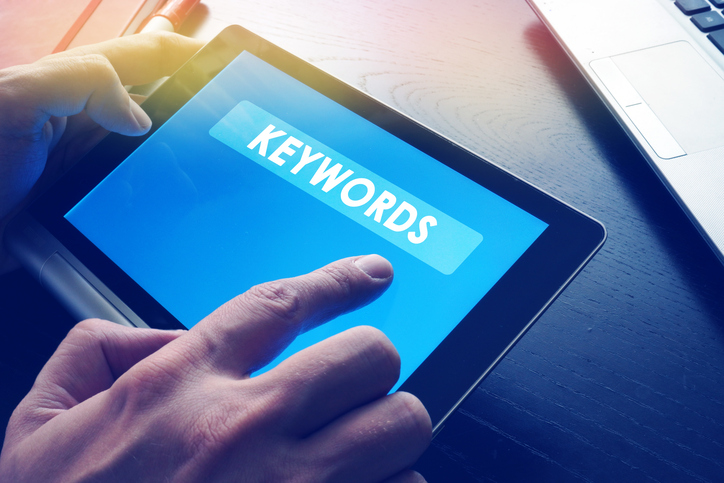 keywords on tablet