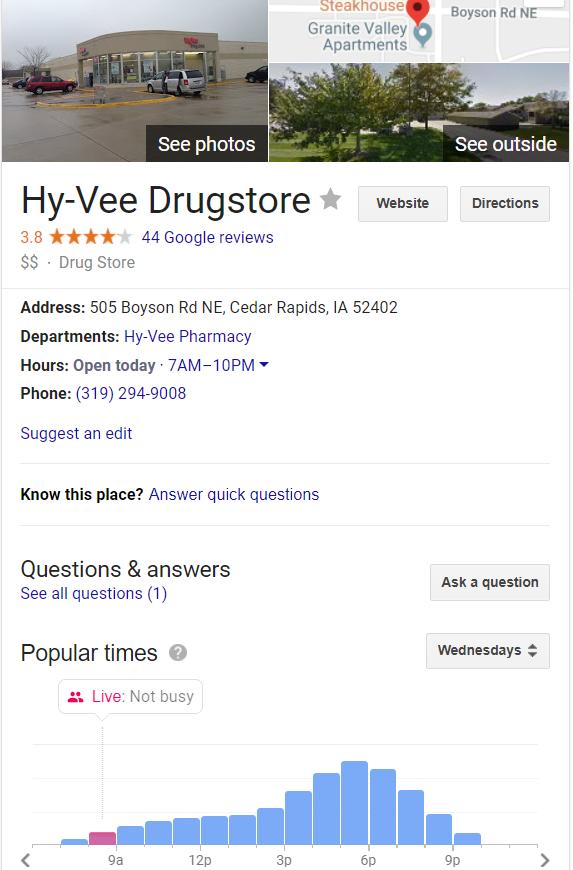 Google business knowledge panel