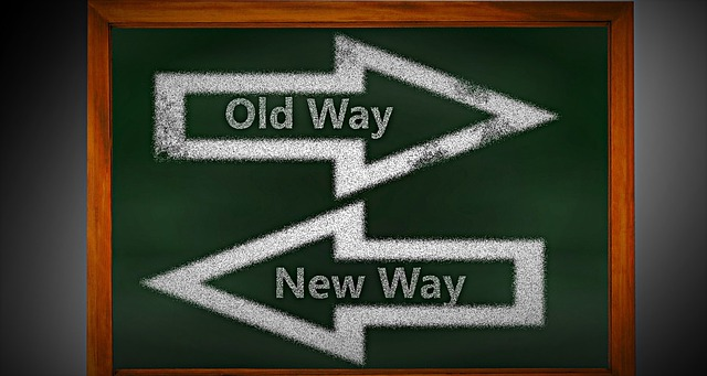 change - old way - new way