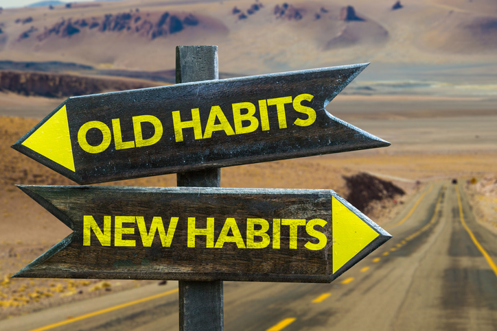 old habits new habits sign