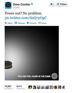 Remember Oreo's genius Twitter post?